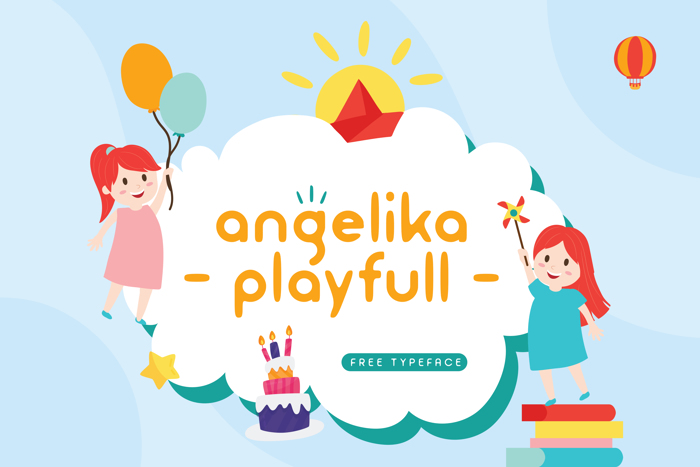 Angelika Playfull Display Fonts poster