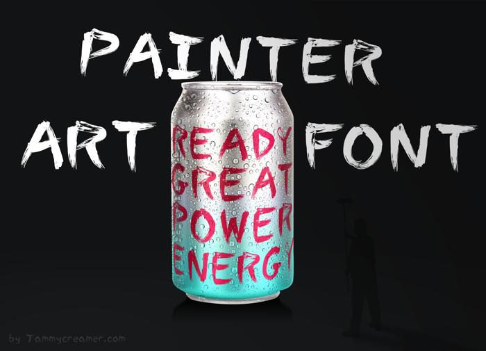 Painter Font poster
