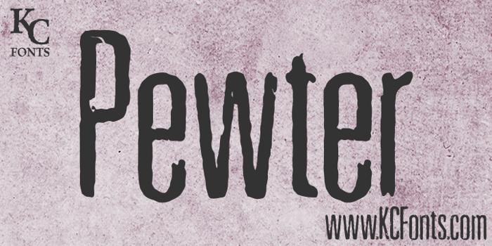Pewter Font poster