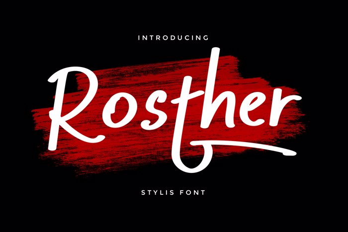 Rosther Font poster