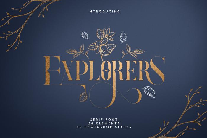 Explorers Font poster