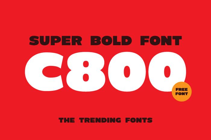 C800 Font poster