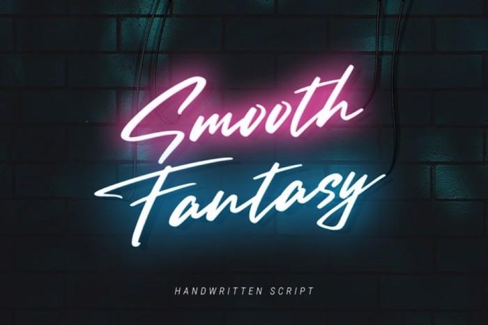 Smooth Fantasy Font poster