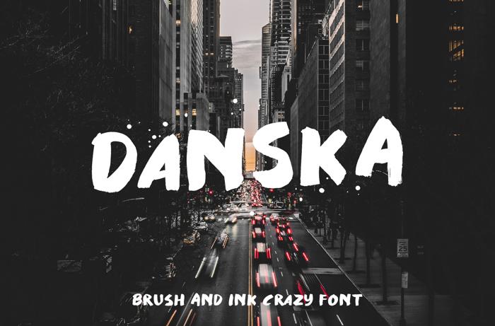 Danska Font poster