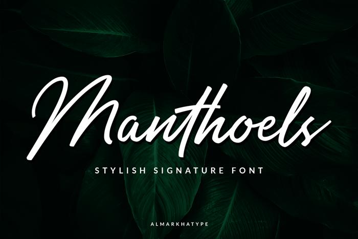 Manthoels Font poster