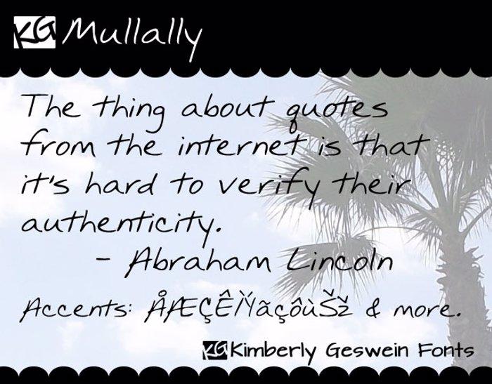 KG Mullally Font