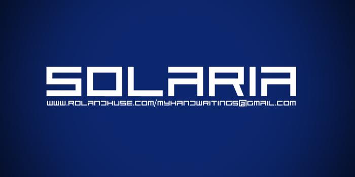 Solaria Font poster