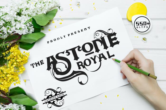 ASTONE ROYAL Font poster