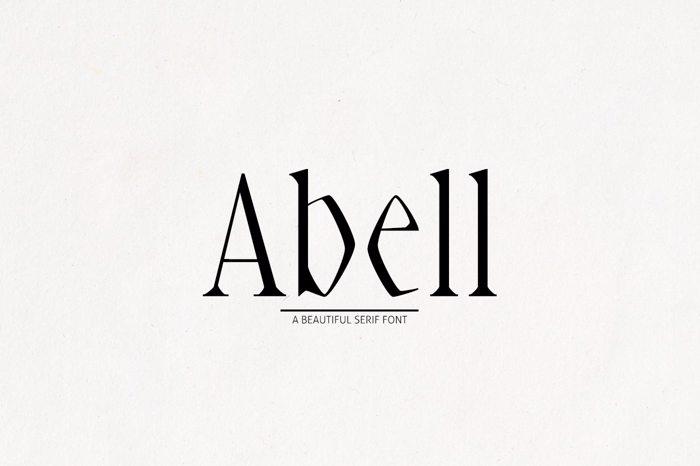 Abell Black Font poster