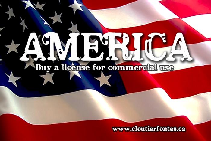 CF America Font poster