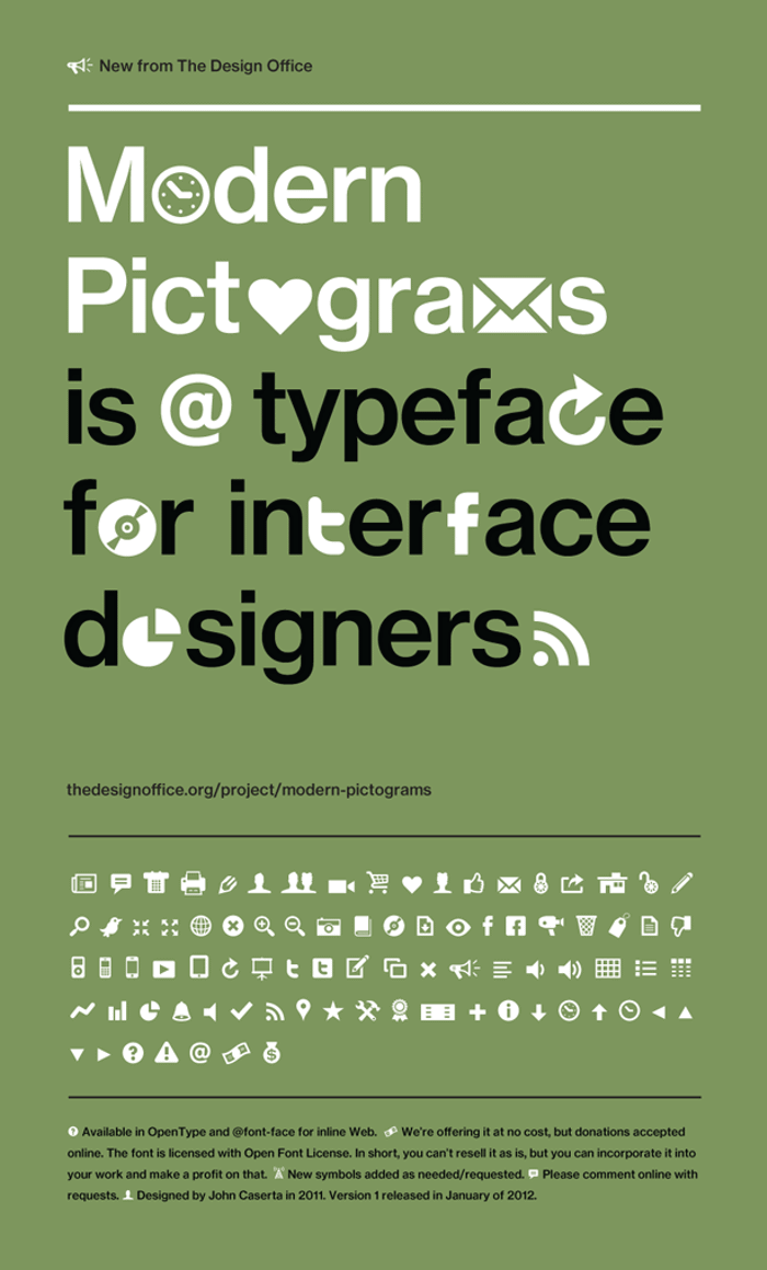 Modern Pictograms Font poster