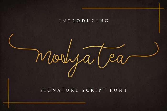 Modya Tea Font poster