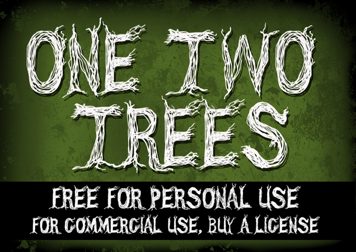 CF One Two Trees Font poster
