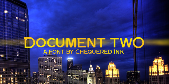 Document Two Font