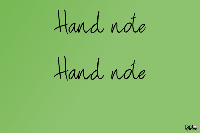 Hand note Font poster