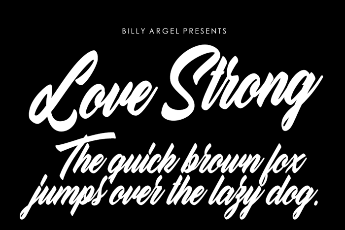 Love Strong Font poster