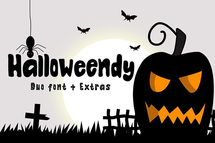 Halloweendy Font poster