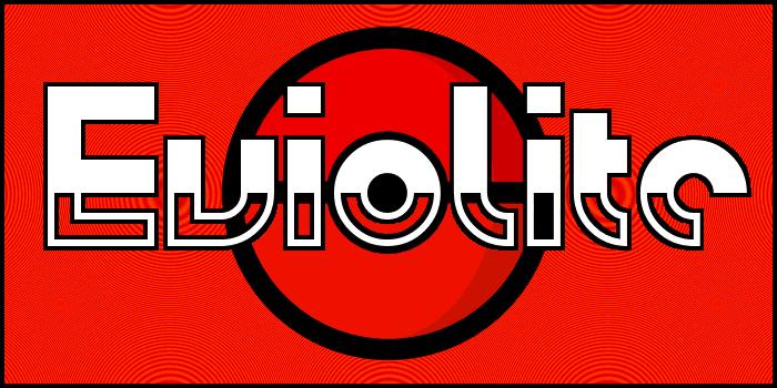 Eviolite Font poster