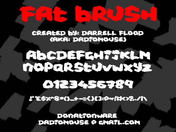 Fat Brush Font poster