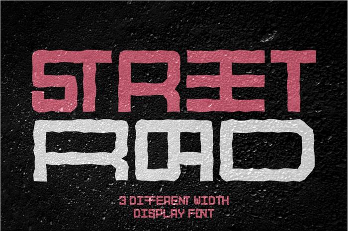STREETROAD Font poster
