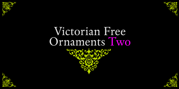 Victorian Free Ornaments Two Font poster