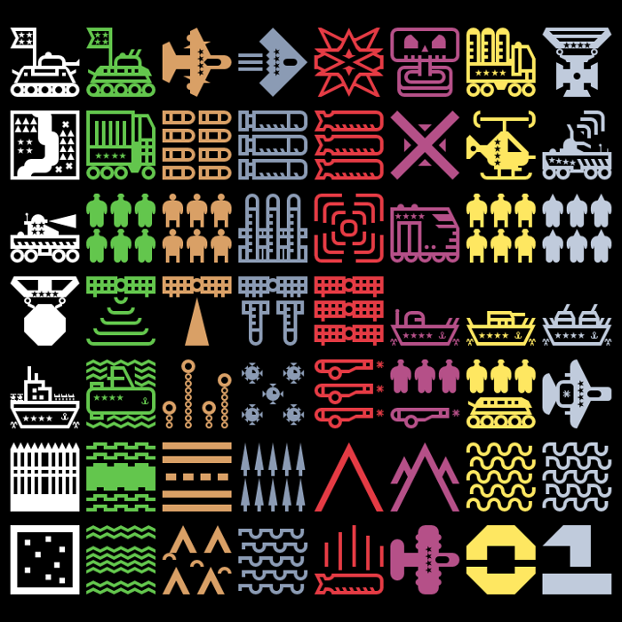 Militaricons Font poster
