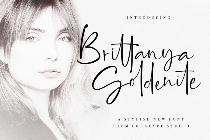 Brittanya Goldenite Font poster