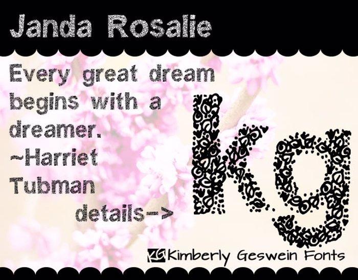 Janda Rosalie Font poster