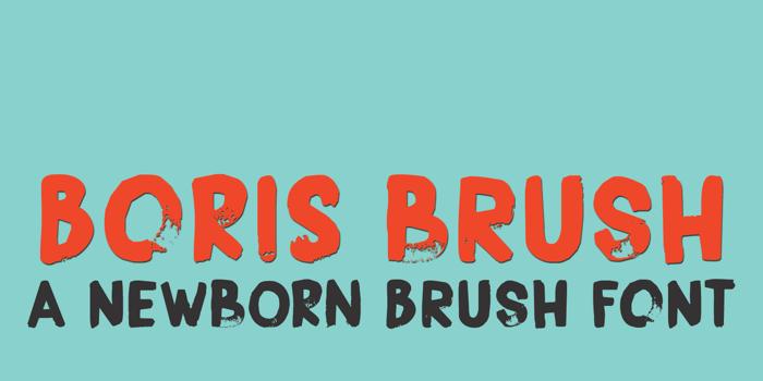 DK Boris Brush Font poster