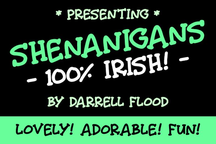 Shenanigans Font poster