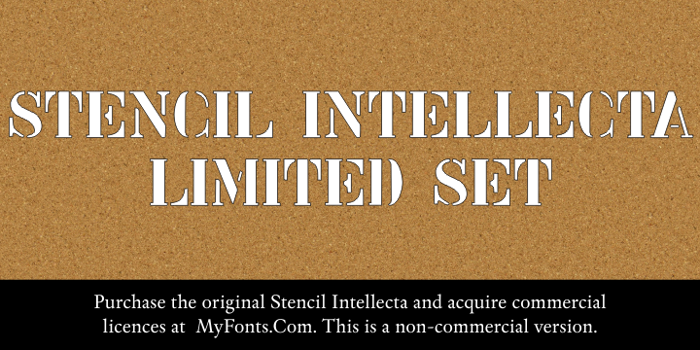 Stencil Intellecta Limited Set Font poster