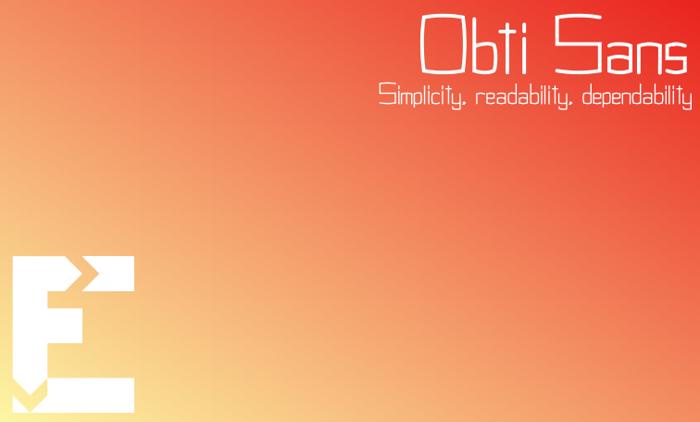 Obti Sans Font poster