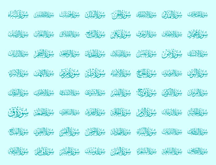Quran karim 114 Font poster
