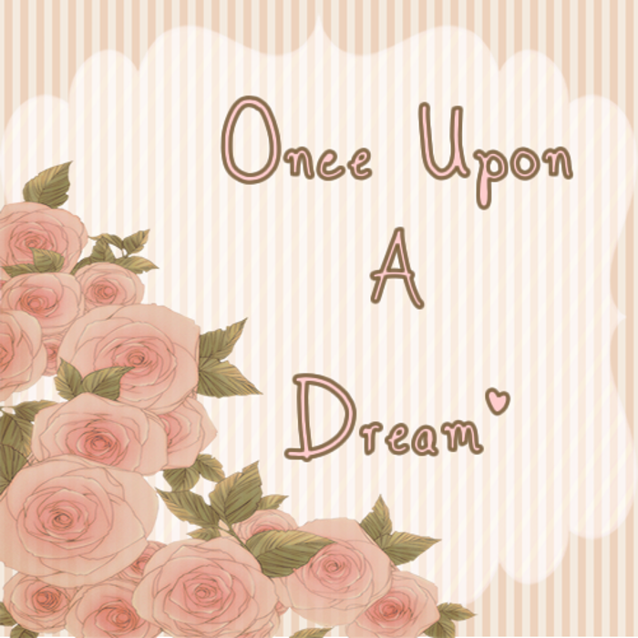 Once Upon A Dream  Font poster
