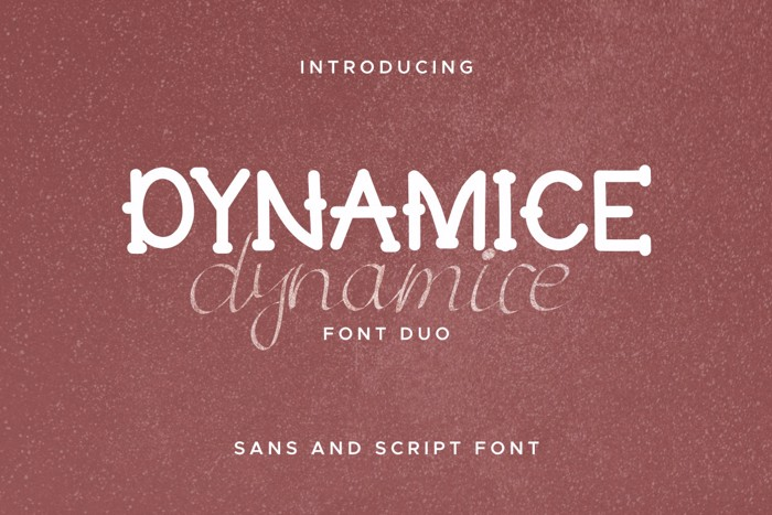 Dynamice Font poster