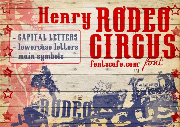 HenryRodeoCircus_demo Font poster