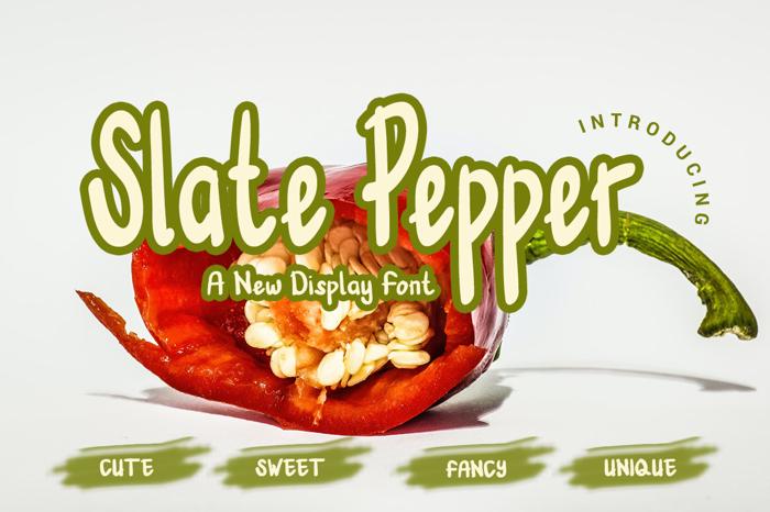 Slate Pepper Font poster