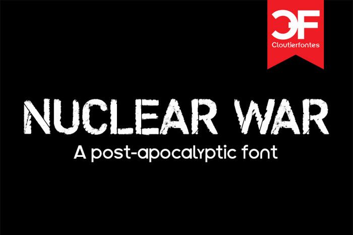 CF Nuclear War Font poster