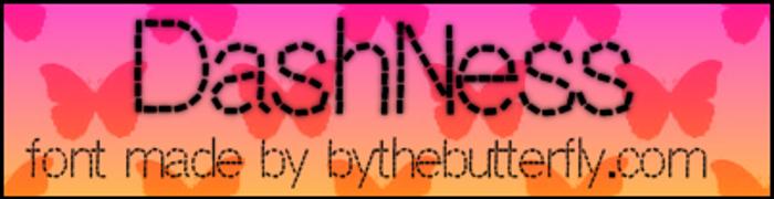 DashNess Font poster