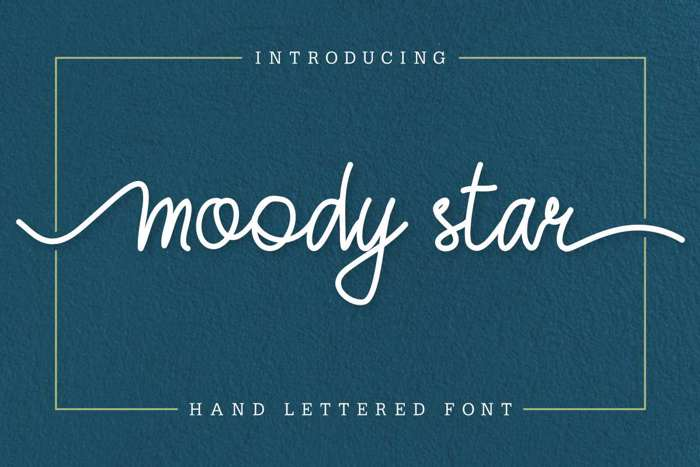 Moody Star Font poster