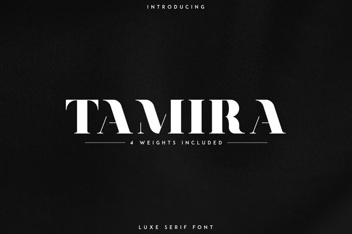 Tamira Font poster