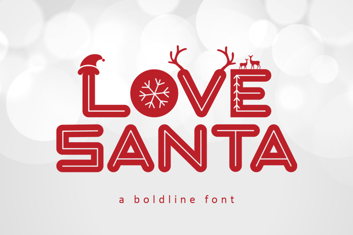 Love Santa Font poster