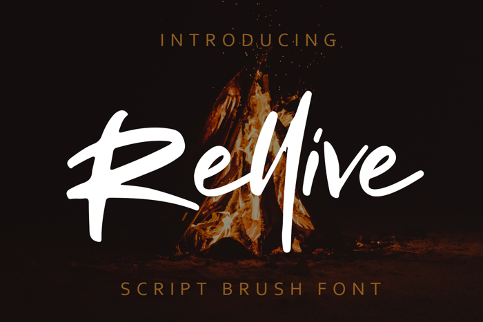 Rellive Font poster