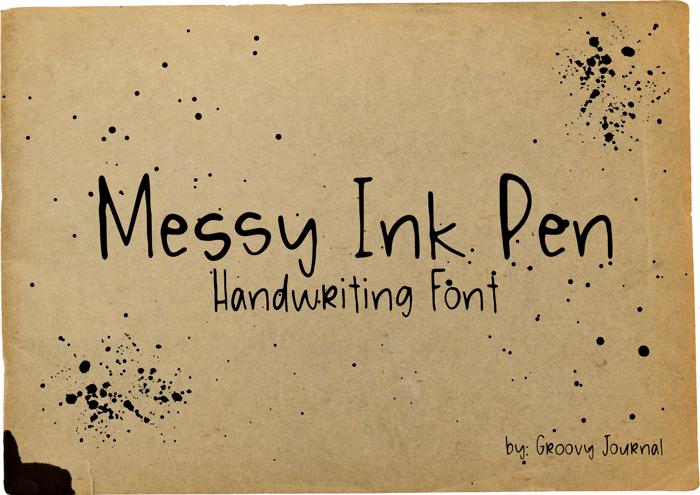 Messy Ink Pen Font poster