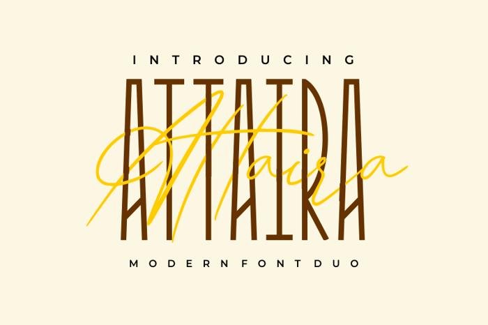 Attaira Display Font poster