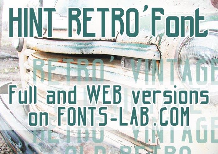 hint retrò Font poster