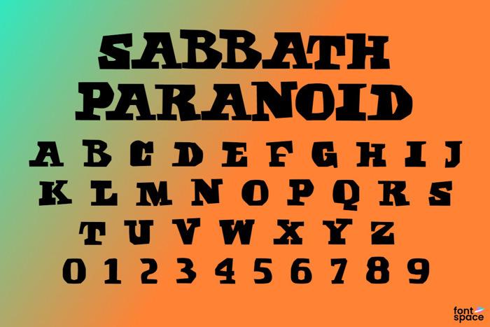 Sabbath Paranoid Font poster