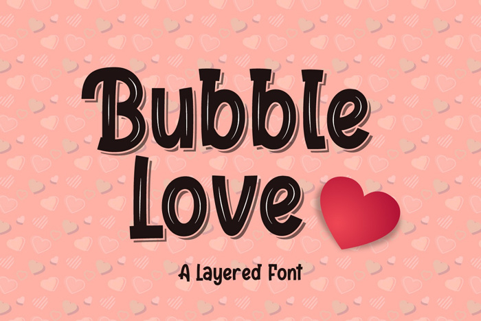 Bubble Love Font poster