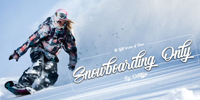 Snowboarding Only Font poster