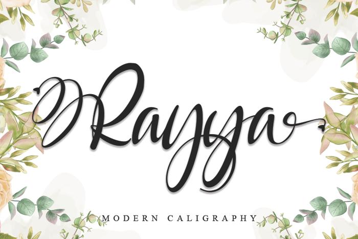 Rayya Font poster